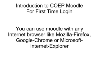 Moodle: Tutorial(First Login)