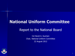 National Uniform Committee