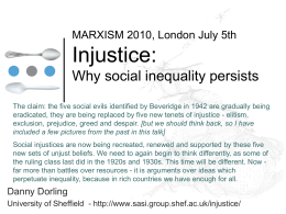 Injustice - Social and Spatial Inequalities Research Group
