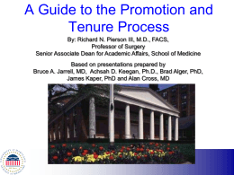 Tenure - University of Maryland School of Medicine