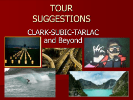 Tour Suggestions Powerpoint