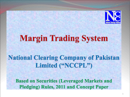Margin Trading System (MTS) Presentation