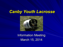 Canby Youth Lacrosse - Web