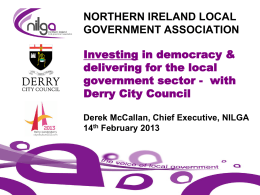 NORTHERN IRELAND LOCAL GOVERNMENT