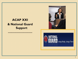 ACAP XXI & National Guard Support