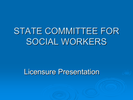 STATE COMMITTEE FOR SOCIAL WORKERS