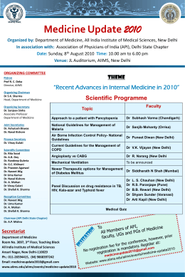 Poster - India Institute Of Medical Science