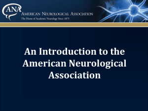 Powerpoint - American Neurological Association (ANA)