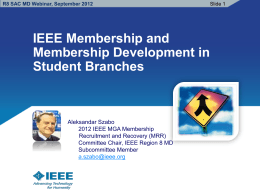 Student Branch Membership Development