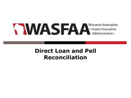Direct Loan and Pell Reconciliation