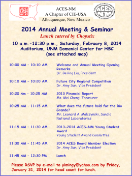 Annual Meeting Flyer (Microsoft PowerPoint - ACES-NM