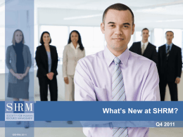 What`s New at SHRM?