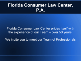 Florida Consumer Law Center, P.A.
