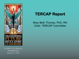 TERCAP Report - National Council of State Boards of Nursing