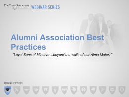 Alumni Association Best Practices