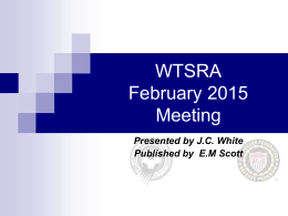 Febuary Meeting Presentation - West Tennessee Soccer Referee