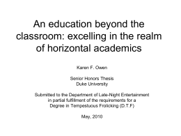 An education beyond the classroom: excelling in the realm of