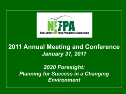 NJFPA Directors - New Jersey Food Processors Association