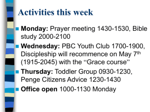 Read the weekly notices