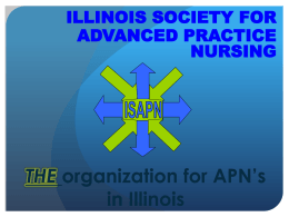 Transitioning from RN to APN - Illinois Society for Advanced Practice