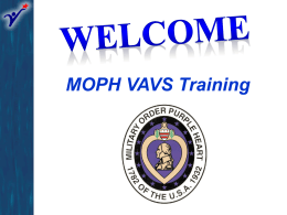 VAVS Training Presentation - Military Order of the Purple Heart