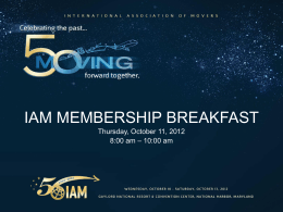IAM Membership Breakfast
