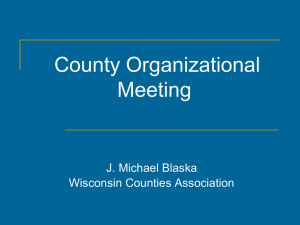 Preparing For Your County`s Organizational Meeting Recording