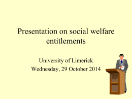 Social Welfare & Pensions Information