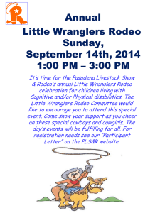 Little Wrangler Rodeo October 3, 2009 Saturday 1:00 PM – 3:00 PM