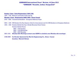IUC 2012 Agenda
