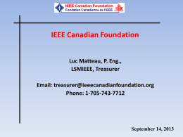 PowerPoint Introduction - IEEE Canadian Foundation