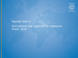 ISSAI 1610 ppt