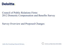 Compensation and Benefits Survey - Council of Public Relations Firms