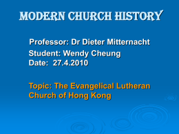 CH310-The Evangelical Lutheran Church of Hong