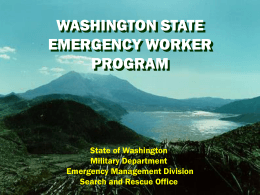 Washington State Emergency Worker Program