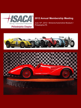 2012 Annual Membership Meeting