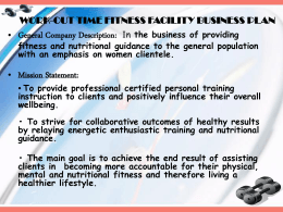 ppt business plan - National Personal Training Institute of Columbus