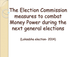 on Election Expenditure Monitoring (EEM) for Political Parties