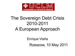 The Sovereign Debt Crisis 2010-2011