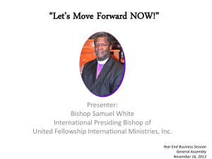 Let`s Move Forward NOW! - unitedfellowshipinternational.org