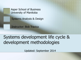 stems Development Life Cycle & systems development methodologies