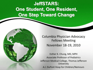 JeffSTARS: One Student, One Resident, One Step at a Time