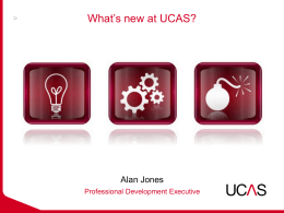 What`s New at UCAS?