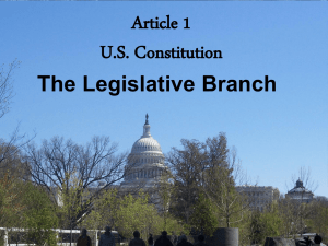 Article 1 Legislative Branch