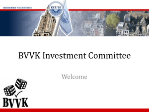 Presentation on the BVVK investment committee