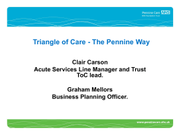 Triangle of Care - The Pennine Way