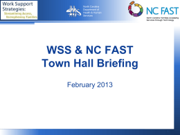 WSS NC FAST Town Hall Update pptx