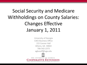 Social Security and Medicare Withholding Changes on County