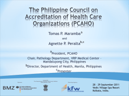 Hospitals accreditation agency, Philippines