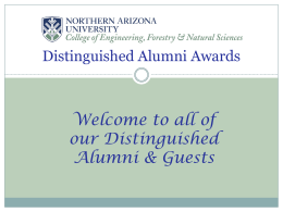 2008 Ceremony Distinguished Alumni PowerPoint